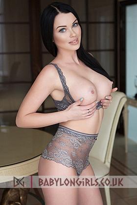 Azalia beautiful brunette, 34D (Natural)