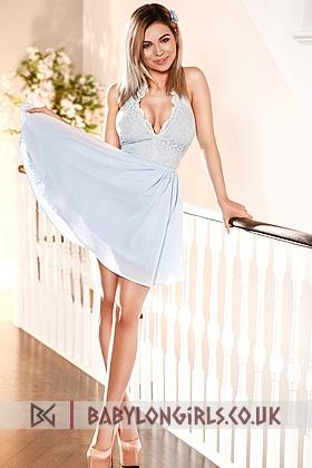 Alluring Amona blonde 5ft 5, 34C